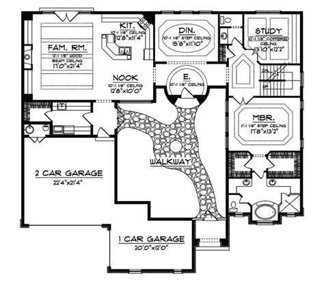santa fe house plans cervantes santa fe style home plan 051d 0350 house plans and more