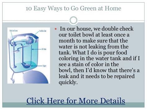 ways to be green at home 10 easy ways to go green at home