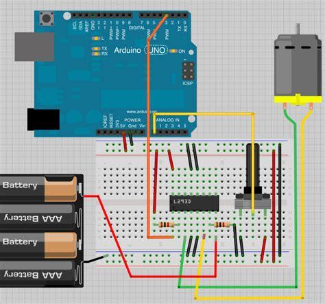 1k resistor fritzing fritzing project drive motor using l293d sn754410