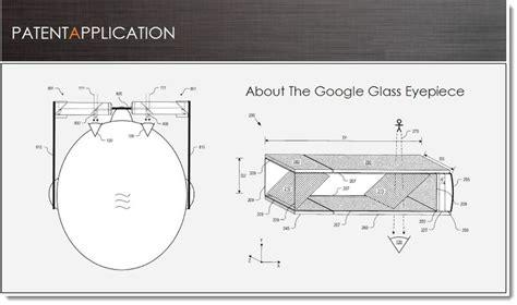 design patent search google google glass eye piece patent secured