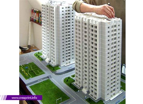 Shape Of House Maquette Scale Model Creative Printing House