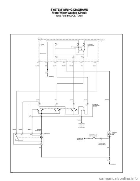 audi 5000cs 1986 c2 system wiring diagram
