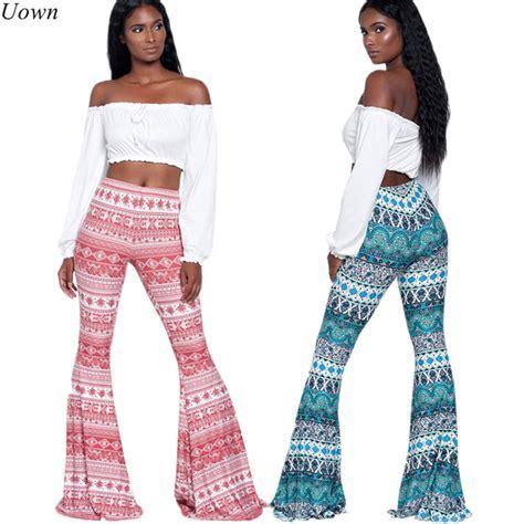 pattern bottom tights aliexpress com buy 2017 ladies boho trousers fitness