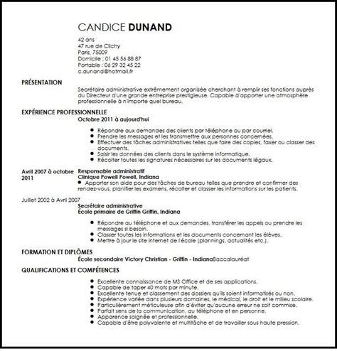 Lettre De Présentation Secrétaire Administrative Cv Secretaire Administrative Exemple Cv Secretaire