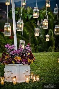 Vintage mason jars outdoor wedding decor ideas deer