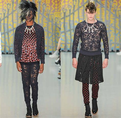 Pattern Barbaric Leggings   83 best london collections mens 2015 spring summer images