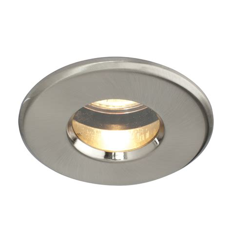 Recessed Bathroom Light Saxby Dl805ss Ip65 Satin Silver Bathroom Downlight Spotlight