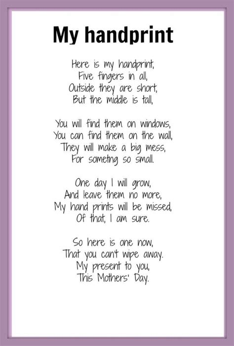 Charming Fun Christmas Songs For Kids To Perform #5: Mother-day-poems-my-handprint-695x1024.jpg