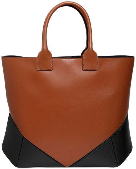 Givenchy Two Tone Purse by Givenchy Easy Two Tone Nappa Leather Tote Bag In Brown