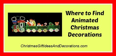 where to buy animated christmas decorations for outdoors