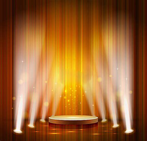 powerpoint templates stage light orange stage lights background orange light stage