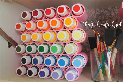 acrylic paint diy thrifty crafty acrylic paint storage