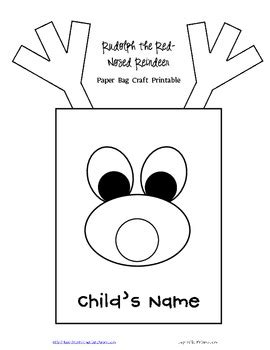 pattern of writing project free rudolph reindeer paper bag template and writing