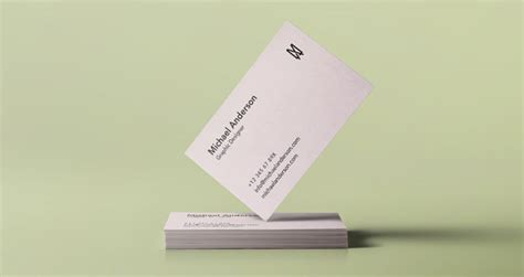 Business Card Presentation Template Psd by 70 Free Psd Business Card Mockups For Great Deals Free