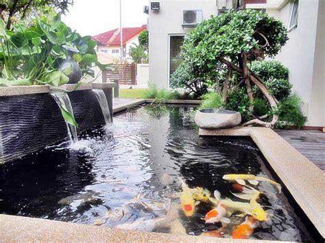 Cat Pelapis Kolam Ikan model kolam ikan hias koi minimalis terbaru