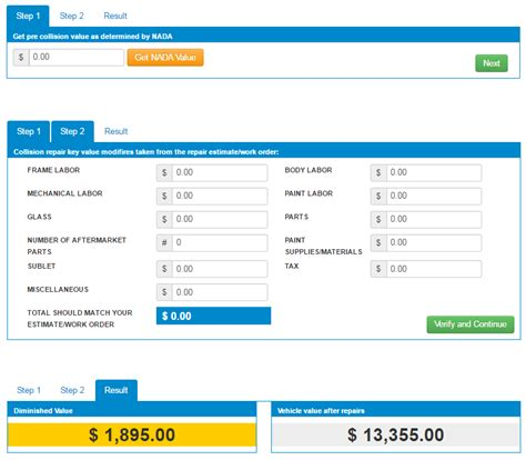free diminished value calculator calculator how to diminished value report