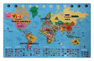 Buy Discount Rug Foam World Map Kit English Korean Discount