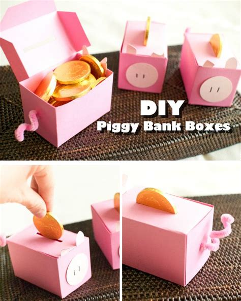 How To Make A Paper Bank - diy piggy bank coin boxes unlimited hacks crafts