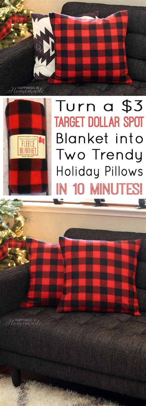 How To Make A Blanket Pillow by Buffalo Check Plaid Pillows From A 3 Target Blanket