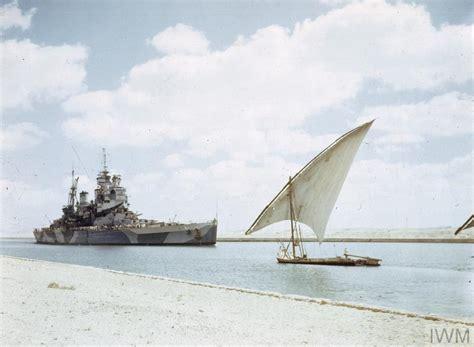 Colour Scheme Creator by British Battleship Hms Howe Passing Through Suez Canal 14
