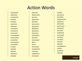 Job Resume Vocabulary by Doc 13001029 Verbs Resumes Resume Action Verbs Word List