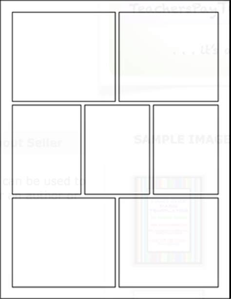 6 panel comic template classroom freebies creative assessment for any content area