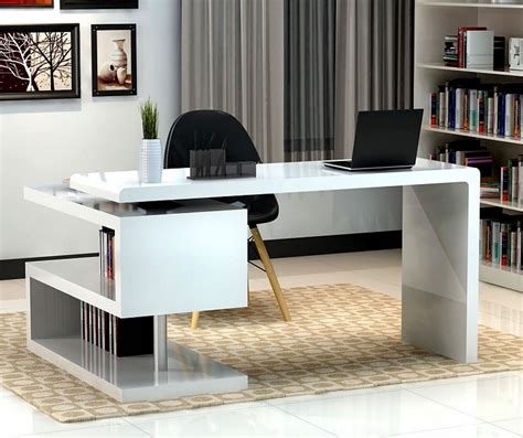 modern office table modern office desk inspirations for home workspace traba
