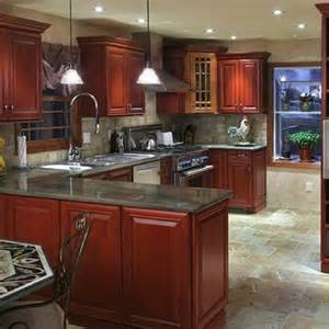Granite Countertops With Cherry Cabinets Granite Kitchen Countertops Cherry Cabinets Best Home