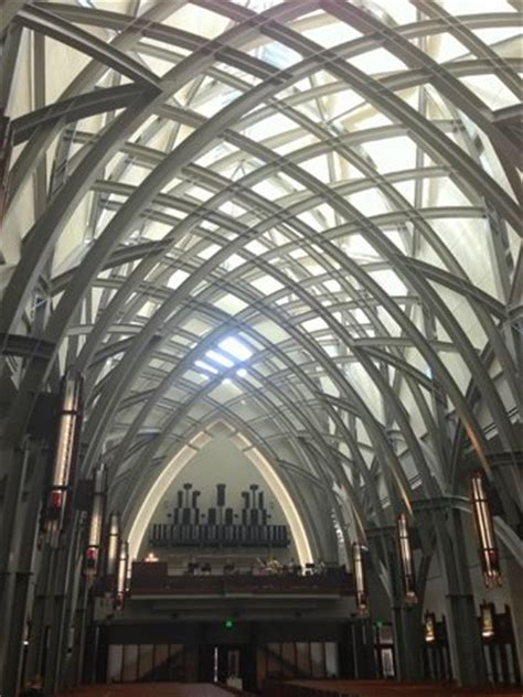 beautiful steel beam arches picture  ave maria oratory