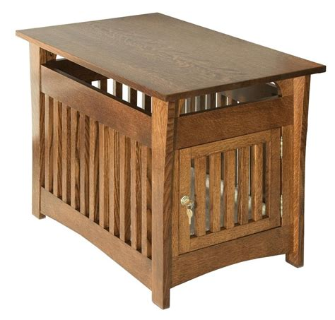Bed End Table by Amish Hardwood Cton Mission Pet Bed End Table