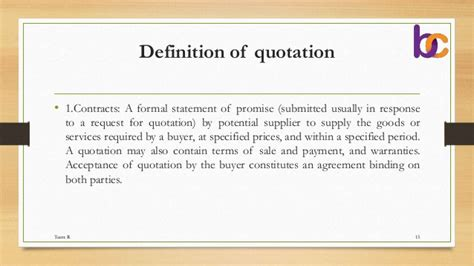 Definition Of Service Letter Cover Letter Quotations Tender E Tender