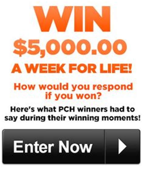 Pch 5000 A Week For Life Entry - pch com 5 000 a week for life sweepstakes giveaway no
