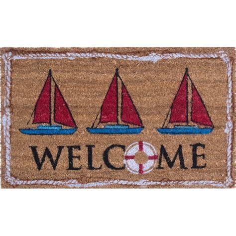 Nautical Doormat nautical welcome coco doormat