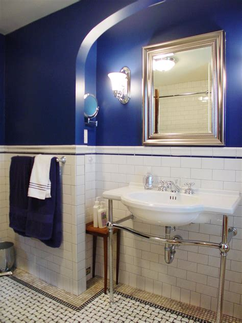 royal blue bathrooms make an old bath fresh and fun hgtv