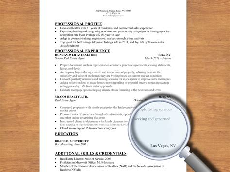 How To Write A Resume For A by How To Write A Resume For A Real Estate 13 Steps
