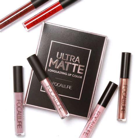 Matte Lipstick Lipgloss Isi 48 Terbaru High Quality focallure 3pcs set ultra matte metallic lasting lip