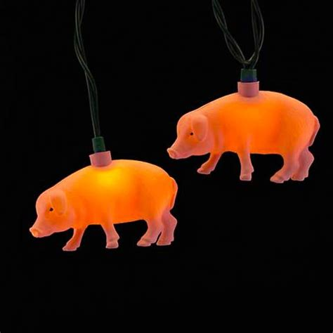 pig lights outdoor ten pink pig string lights 5w752 ls plus