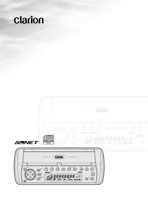 Clarion CD Player XMD3 User Guide | ManualsOnline.com
