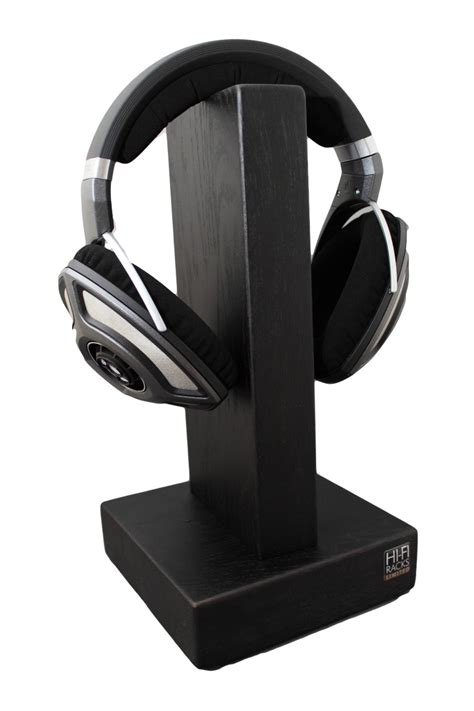 Headphone Rack by Hi Fi Racks Headphone Holder Stand Satin Black Ebay