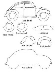 Free Templates For Crafts by Free Vw Bug Craft Template Crafting Goodness