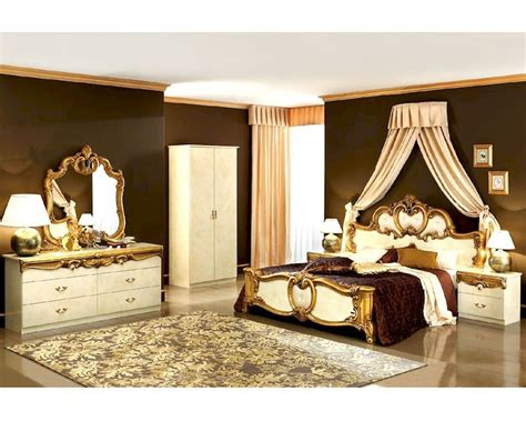 bedroom set gold baroque classic style   italy
