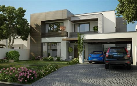 3d front elevation valancia modern contemporary house