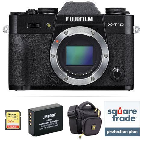 fujifilm x t10 mirrorless digital deluxe kit black