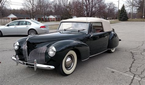 1940 lincoln continental curbside classic 1940 lincoln continental cabriolet