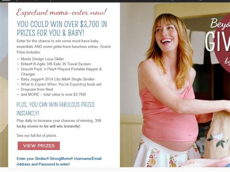 Similac Sweepstakes - beyond the bump giveaway by similac strongmoms sweepstakes
