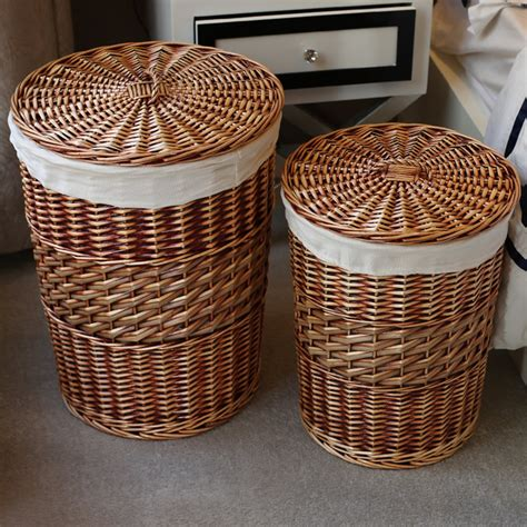 Round Wicker Laundry Her With Lid Sierra Laundry Wicker Laundry With Lid