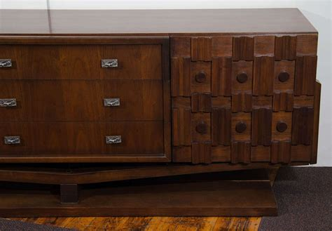 Brutalist Dresser by A Midcentury Brutalist Dresser And Mirror In The Style Of