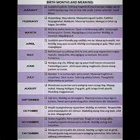 Jobs Report By Month birth months and meanings totoo to ha ang galiiiinng
