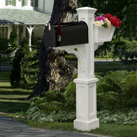 5 Sale Tastic Posts To Blogstalk by Mayne Westbrook Plus Plastic Mailbox Post White 580a00000