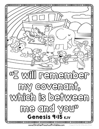 Bible Coloring Pages For Noah by Noah S Ark Preschool Printables Christian Preschool